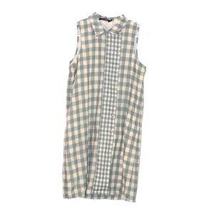 Doe & Rae Plaid Sleeveless Dress